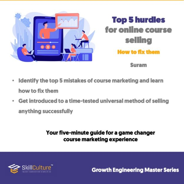Top 5 hurdles for online course selling